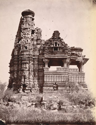 General view of the Javari Temple, Khajuraho